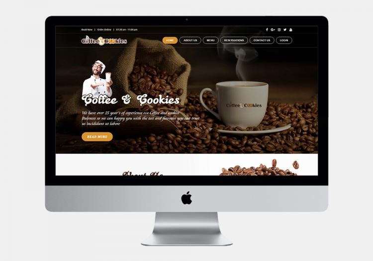 Coffee Cookies Website