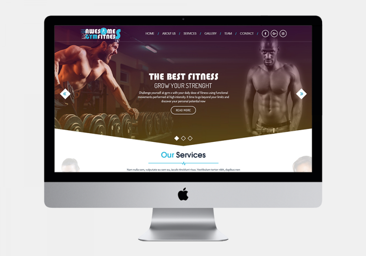Awesome Gym Fitness website
