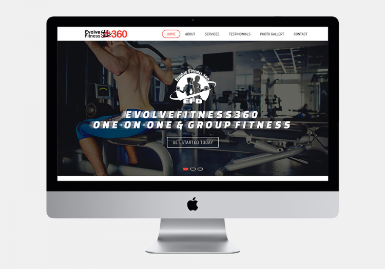 Evolve Fitness 1 Website