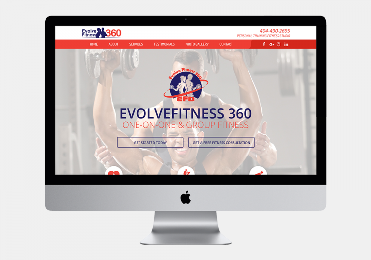Evolve Fitness 2 Website