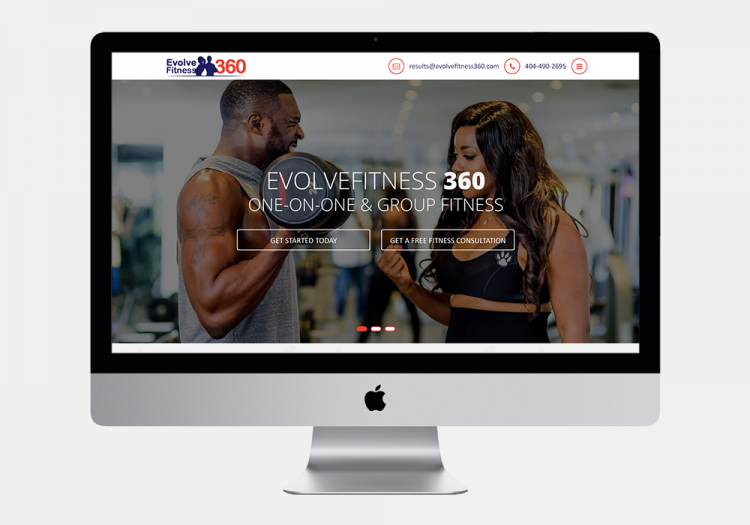 Evolve Fitness 3 Website