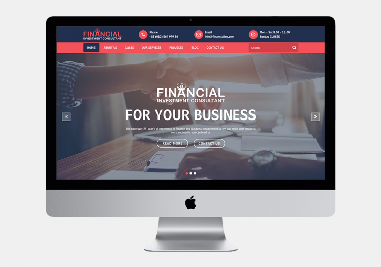 Financial Investment Consultant 3 website