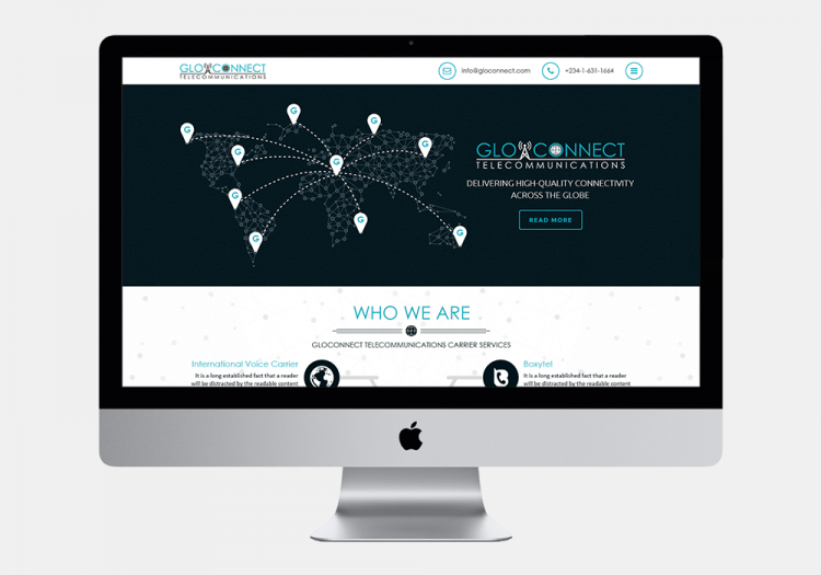 Gloconnect Telecomunications Website