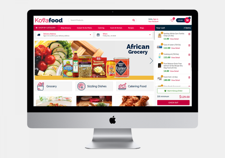 Kovafood Website