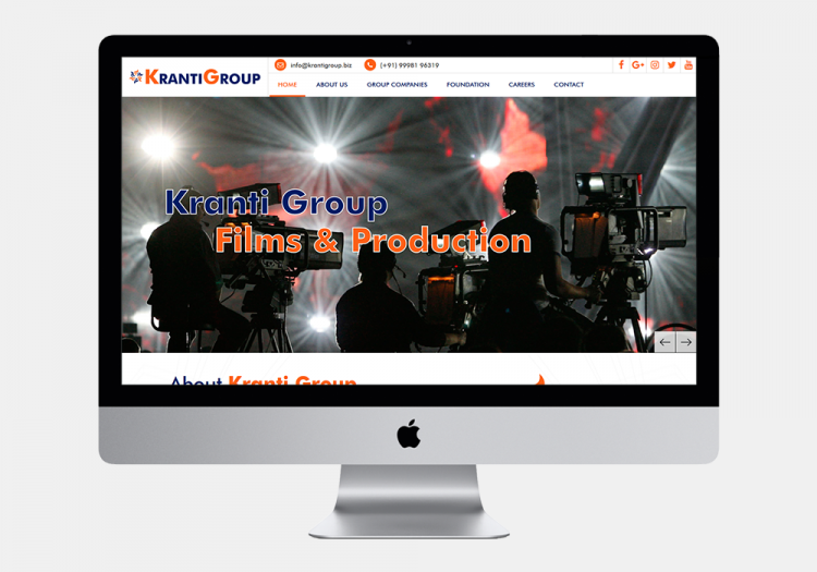 Kranti Group Films & Production website
