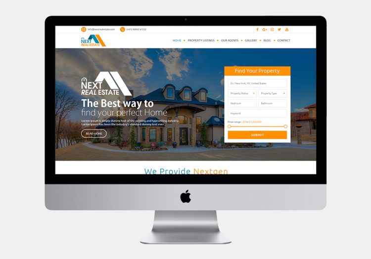 Next Real Estate Website