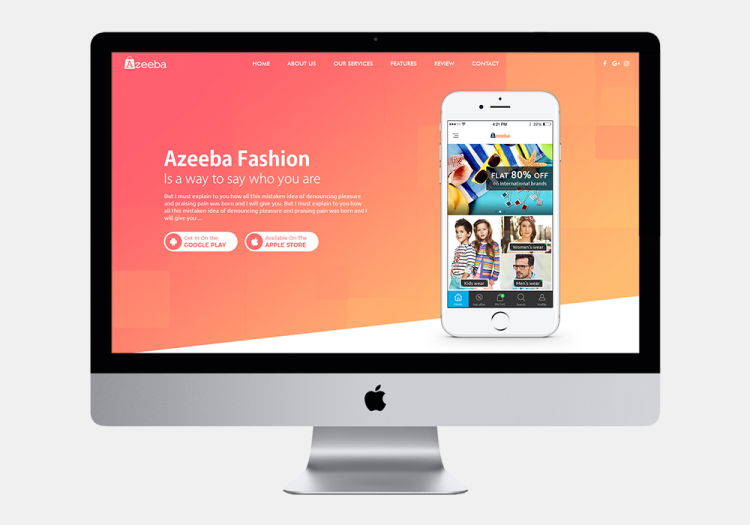 Azeeba Fashion website
