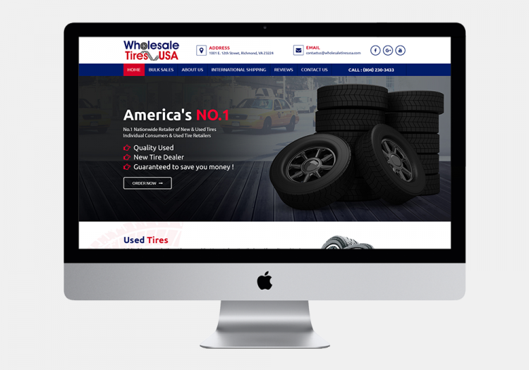 Wholesale Tire Website